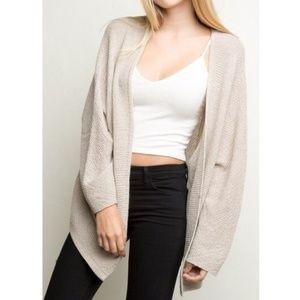 Brandy Melville Wool Open Cardigan Sweater
